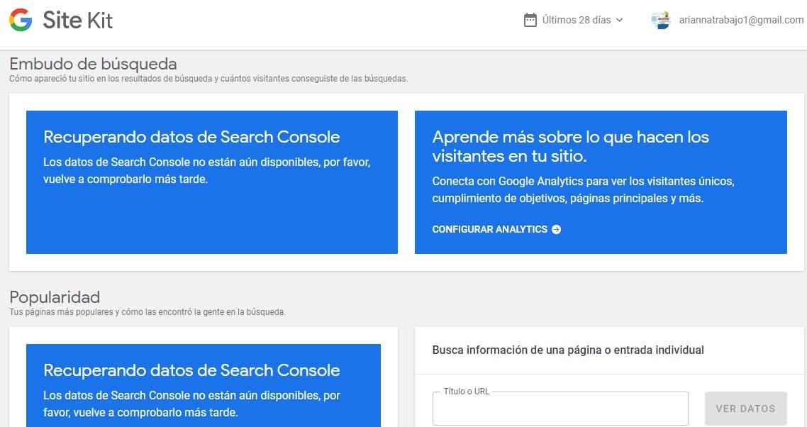 data google search console