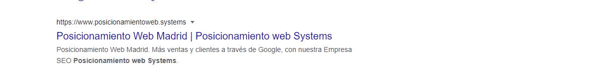 meta descripcion google