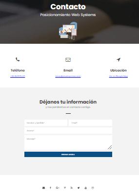 pagina de contacto